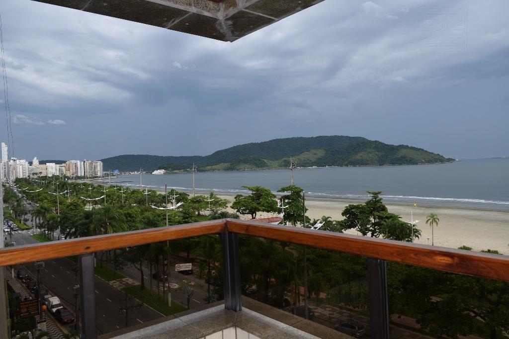 Apartamento Residencial para locação, Aparecida, Santos - AP0645.