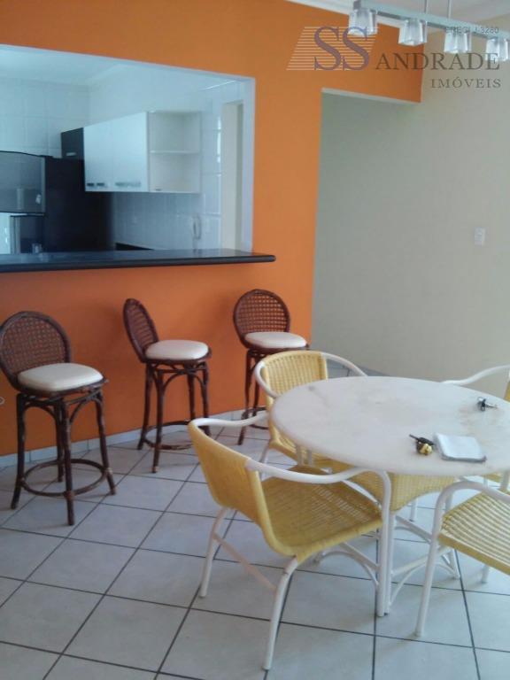 apartamento com 106m² de área construída, possui 03 dorm (01 suíte), sala 02 ambientes, cozinha, 01...