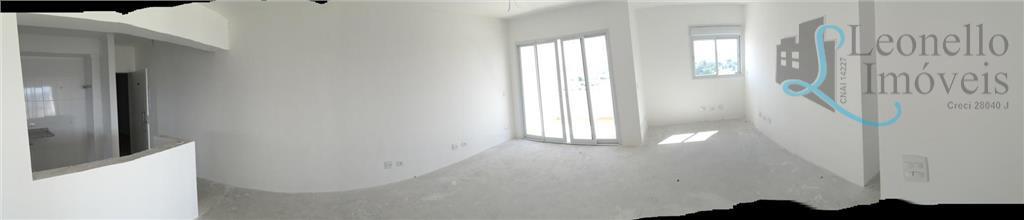 Apartamento  residencial à venda, 88m², 2 dorm com o living ampliado, 1 suíte, 3 vagas!!! Vila Bastos, Santo André.