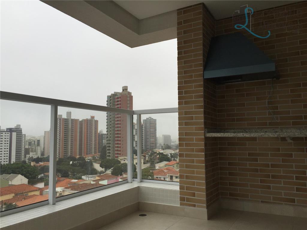 Apartamento à venda, 137m², 3 suítes, varanda gourmet, 4  vagas!!! Bairro Jardim, Santo André.