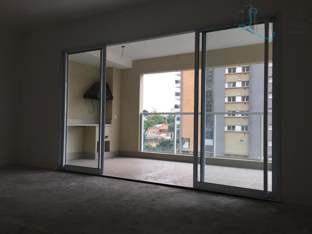 Apartamento residencial à venda, 182m², 4 dorm, terraço gourmet, 4 vagas, Campestre, Santo André.