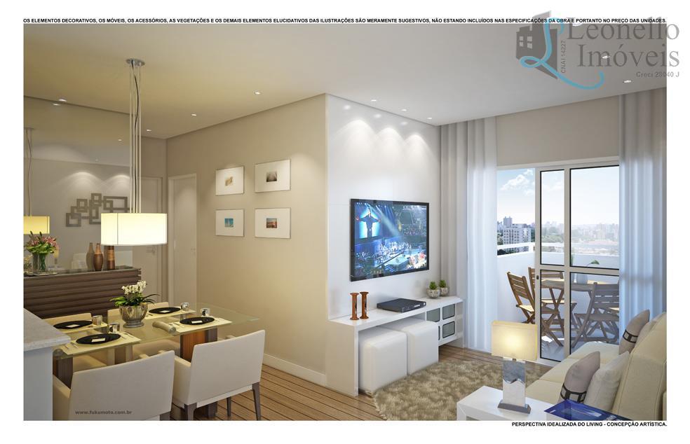 Apartamento residencial à venda, 67m², 2 dorm, terraço gourmet, 2 vagas, Vila Gilda, Santo André.