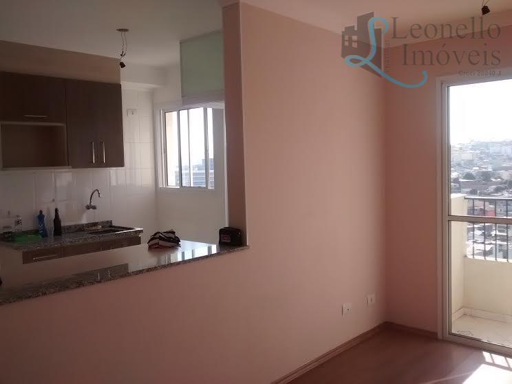 Apartamento residencial para locação, 47 m², Vila Sacadura Cabral, Santo André.