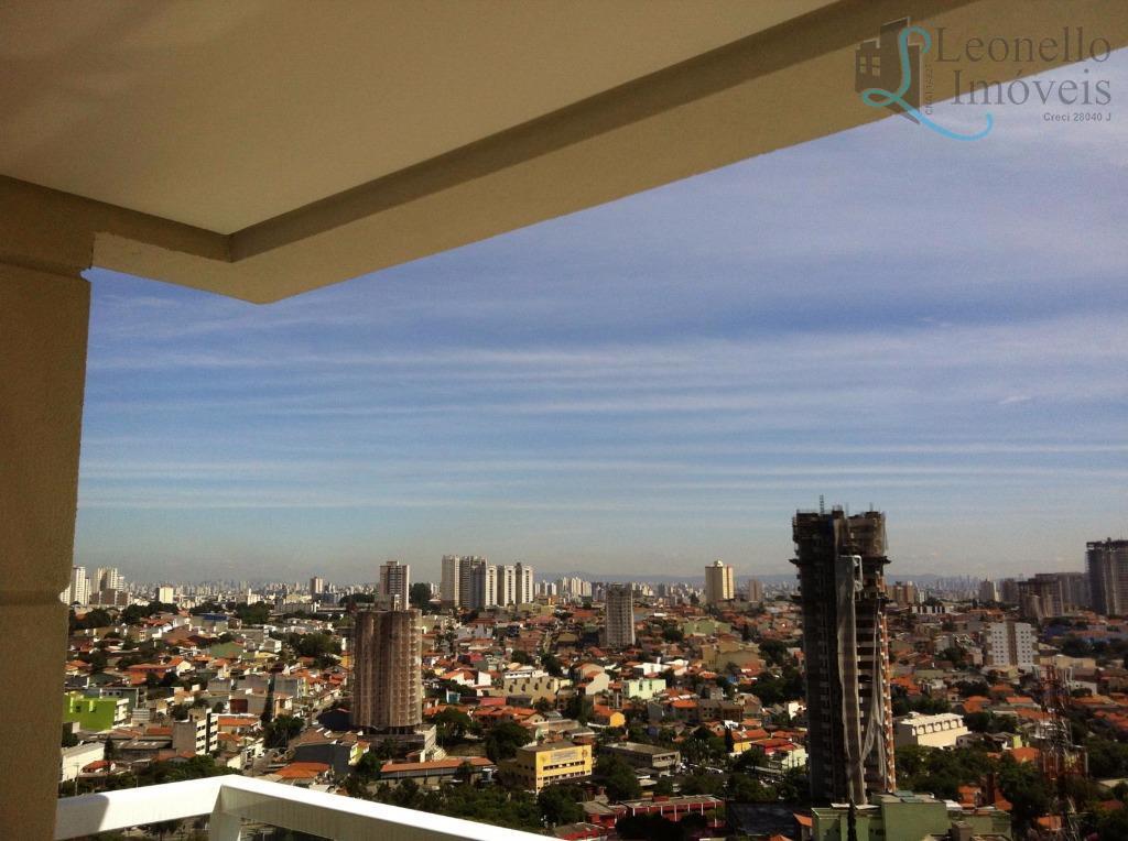 Apartamento  residencial à venda, 57m², 2 dorm, 1 suíte, sacada e vaga p/ 2 carros!!! Bairro Jardim, Santo André.