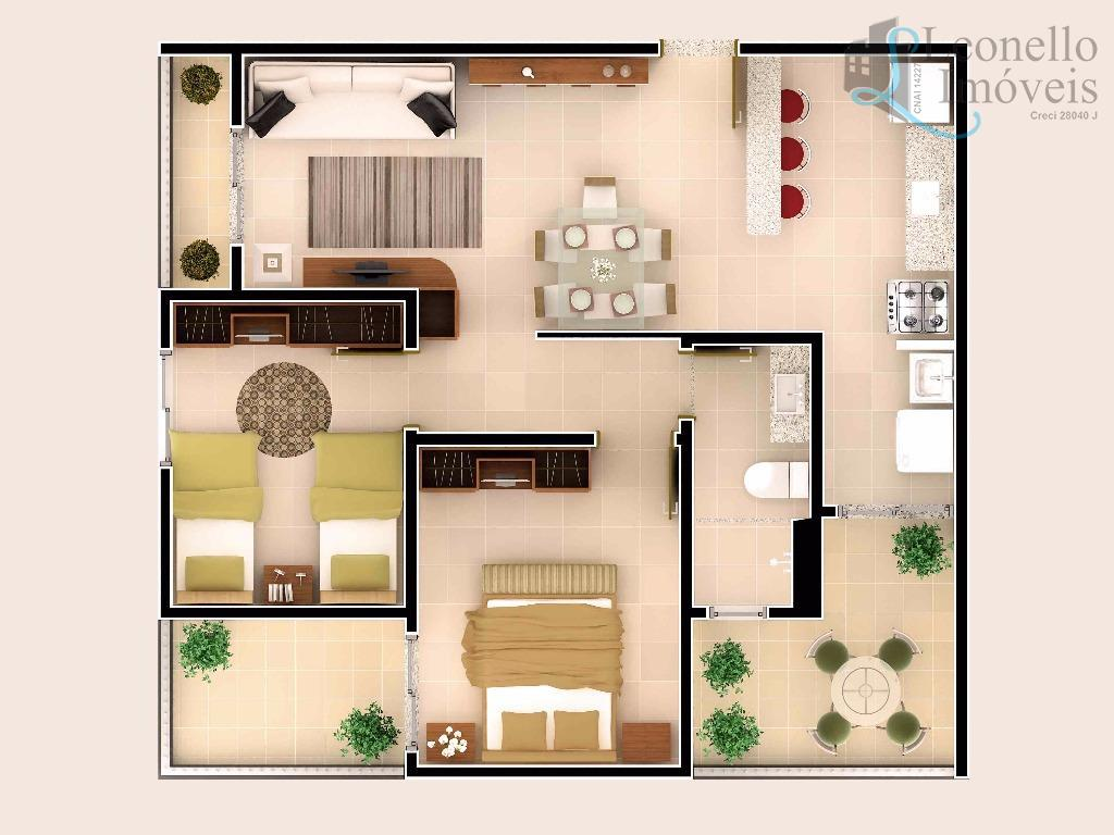 Lançamento MCMV em Sorocaba! Garden c/ 55,14 m², 2 dorm e 1 vaga no Wanel Ville!!!