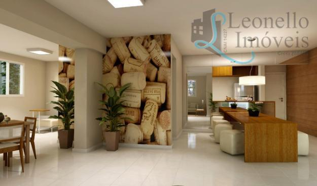 Apartamento residencial à venda. 64 m².  Bairro Jardim, Santo André.