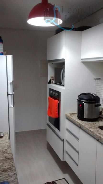 Apartamento residencial à venda, 67 m², mobiliado! Vila Gilda, Santo André.