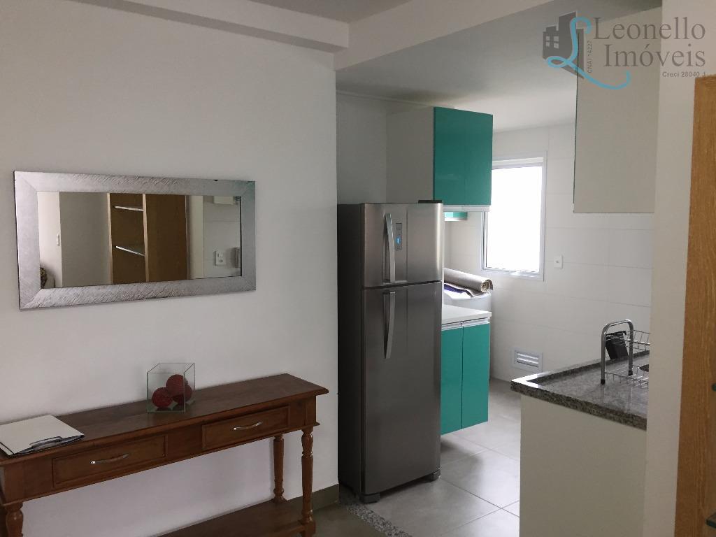 Apartamento 1 dorm à venda, mobiliado, 50 m², 2 vgs e lazer. Campestre, Santo André.