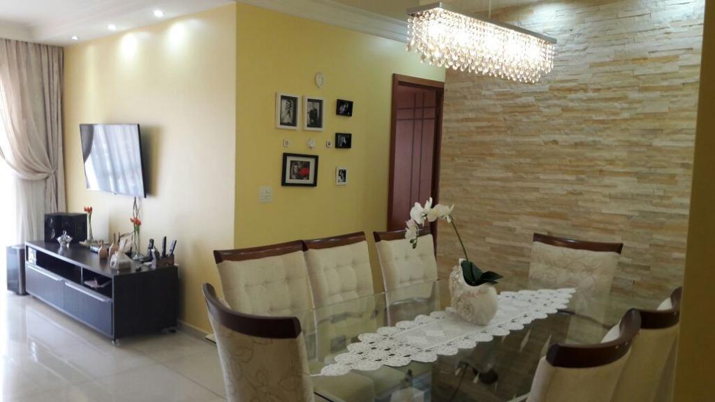 Apartamento residencial à venda, Vila Valparaíso, Santo André - AP0388.