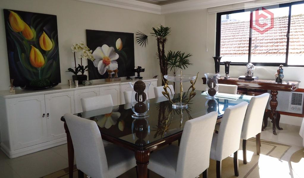 Apartamento  residencial à venda, 273 m², 4 dorm./3 suítes, Boqueirão, Santos.