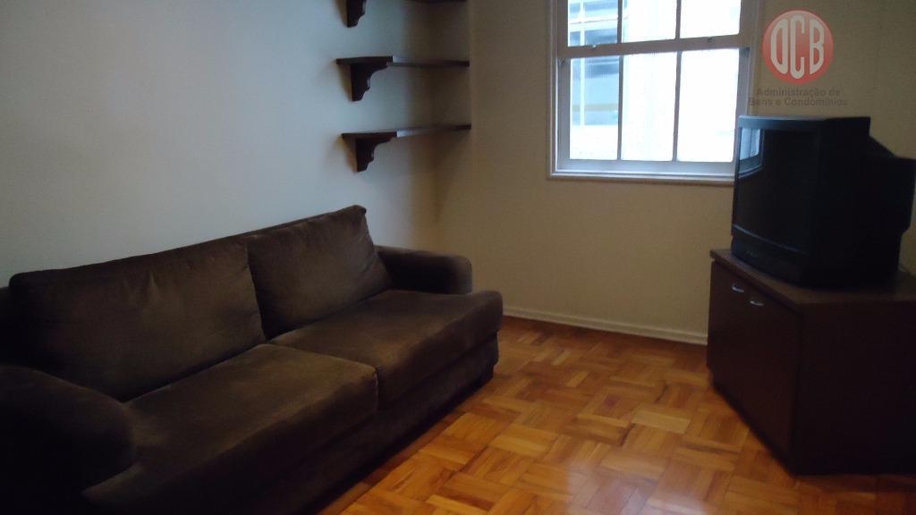 Apartamento  residencial à venda, 49 m², 1 dorm./1banh,,Boqueirão, Santos.