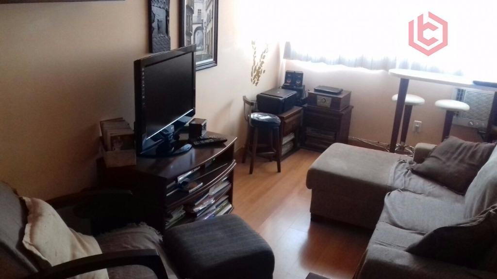 Apartamento residencial à venda, 1 dorm/2banh.,Aparecida, Santos.