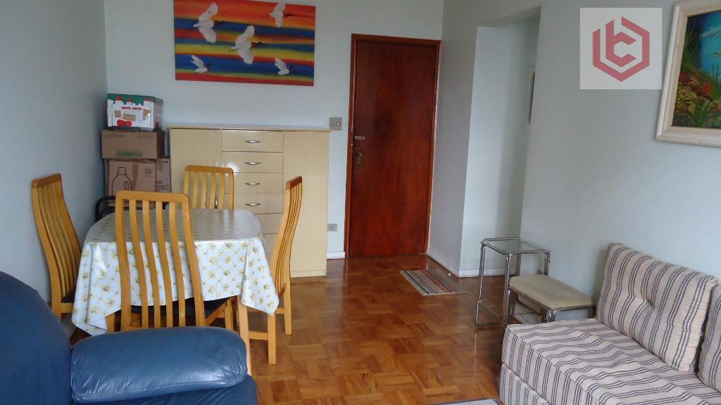 Apartamento residencial à venda, 51 m², 1 dormitório com banheiro, 2 vagas, Boqueirão, Santos.