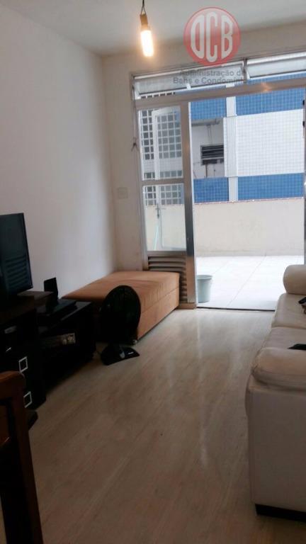Apartamento residencial à venda, 90 m², 2 dorm./1banheiro+dep. empregada completa, Boqueirão, Santos.