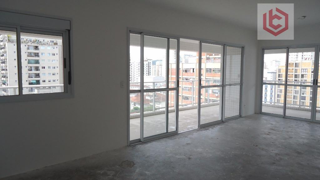 Apartamento residencial à venda, 3 suítes, 170 m², Embaré, Santos.