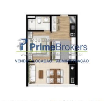 Studio de 1 dormitório à venda em Brooklin Paulista, São Paulo - SP