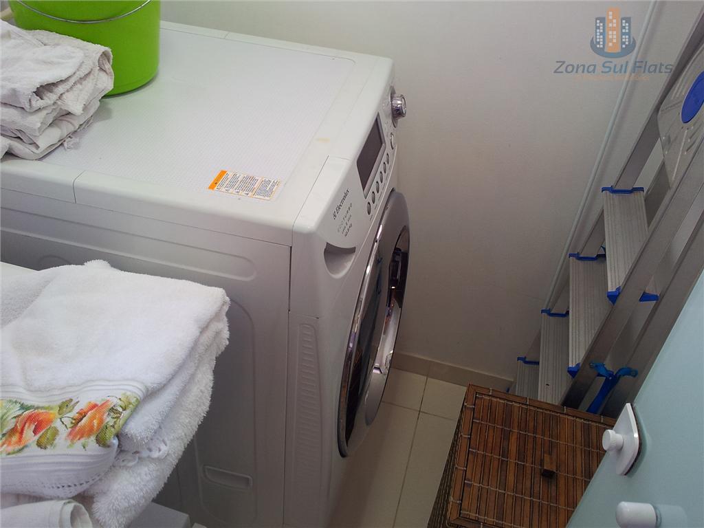 flat residencial para locação totalmente mobiliado! pronto para morar!dois dormitórios! cozinha completa, lavanderia, linda decoração, varanda!condomínio...
