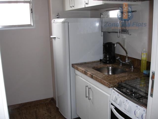 flat estilo residence mobiliado pronto para morar - jardinsentrar e morar - com cozinha, sala ampla...