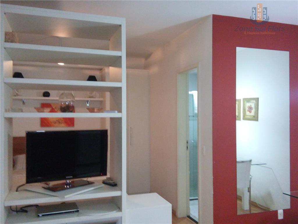 Flat com 1 dormitório à venda, 47 m² por R$ 638.000 - Brooklin Novo - São Paulo/SP