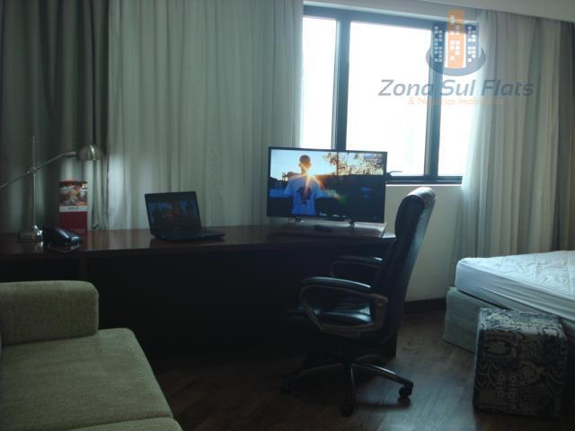 flat em região nobre de são paulo para venda/locação - moema - meliá ibirapueraapartamento com tv...