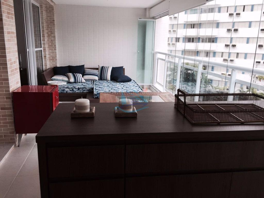 Apartamento residencial à venda, Praia da Enseada – Tortugas, Guarujá.