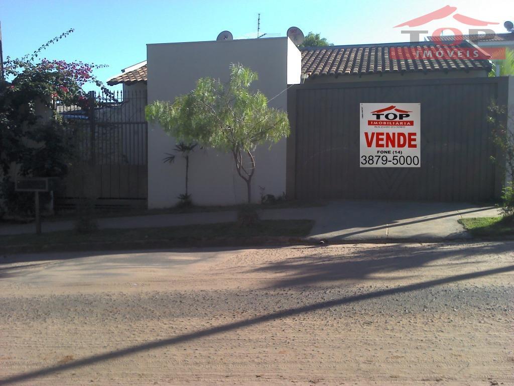 Casa residencial nova à venda, Parque Santa Cândida, Bauru.