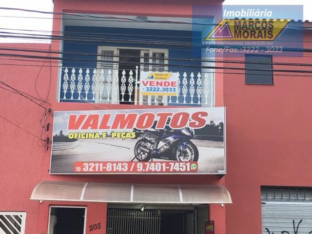 Casa com salão comercial, Rua Campos Salles, ótimo investimento Vendo