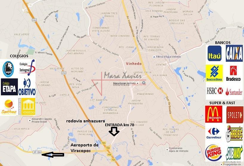 Mapa Entradas Vinhedo