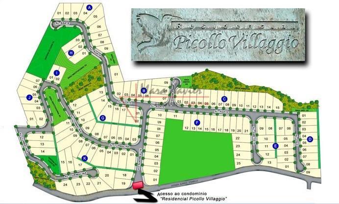 """""""terreno em condomínio fechado, louveira sp""""área total: 369 m², aclive.""""picollo villaggio cond. fechado, louveira sp""""condomínio com..."""
