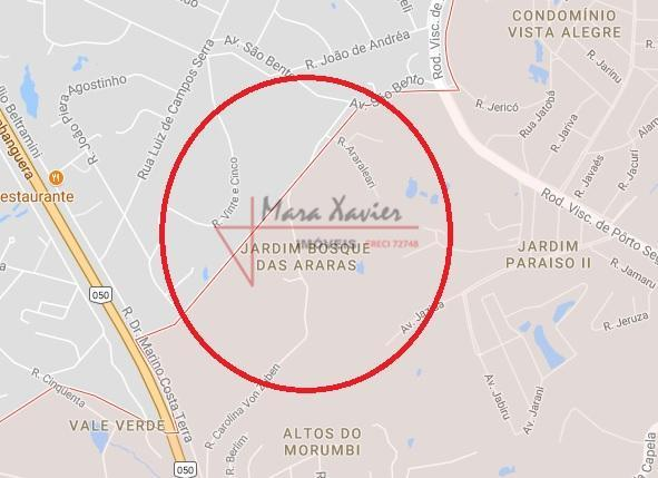 """""""terreno 1000 m², com pequeno aclive lateral"""", em local bom para chácara. aceita permuta por imóvel..."""
