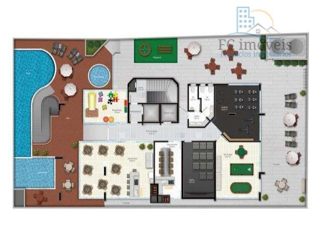apartamento com 3 suítes, living integrado com churrasqueira, cozinha, área de serviço e 3 vagas privativas...