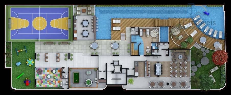 apartamento na planta com 3 suítes, lavabo, living 2 ambientes, infra-estrutura para ar condicionado, porcelanato e...