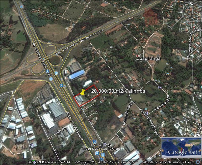 Joapiranga, Valinhos Área  industrial para venda e locação.