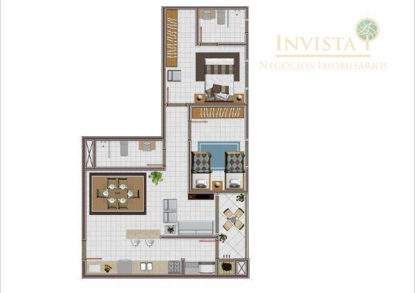 Apartamento de 2 dormitórios em Cidade Universitária Pedra Branca, Palhoça - SC