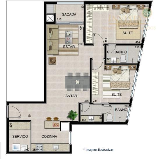 Apartamento de 2 dormitórios em Canajure, Florianópolis - SC