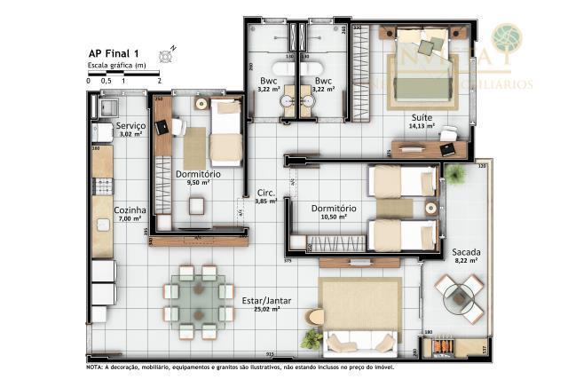 Apartamento de 3 dormitórios à venda em Centro, Santo Amaro Da Imperatriz - SC