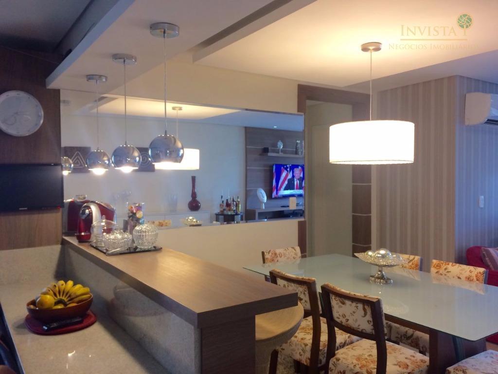 apartamento na trindade, com 3 dormitórios, sendo 1 suíte, sala de estar e jantar, sacada, cozinha,...