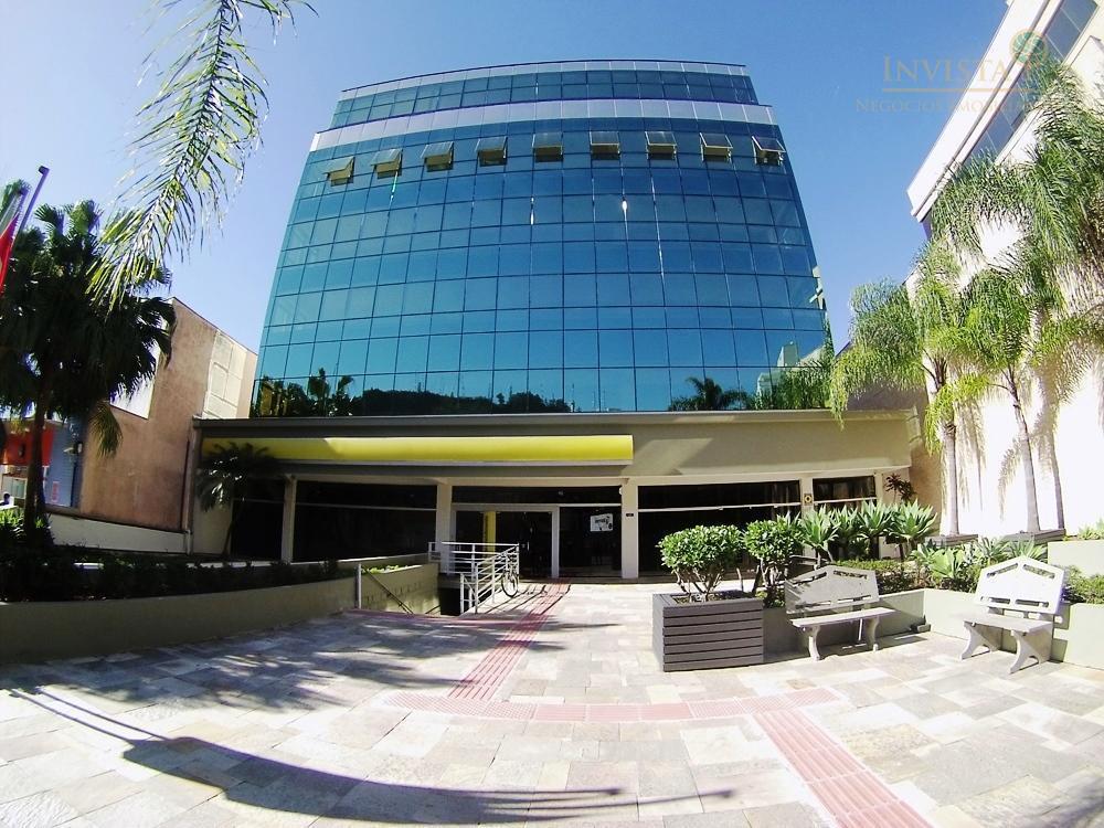 Espaços corporativos em prédio comercial para locação, Trindade, Florianópolis.