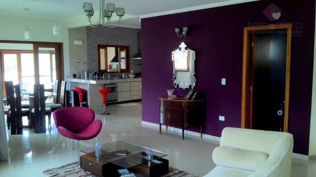 Imobiliária em Atibaia - Casa residencial à venda em Condomínio Fechado de Alto Padrão em Atibaia. Próximo a Al Lucas Nogueira!