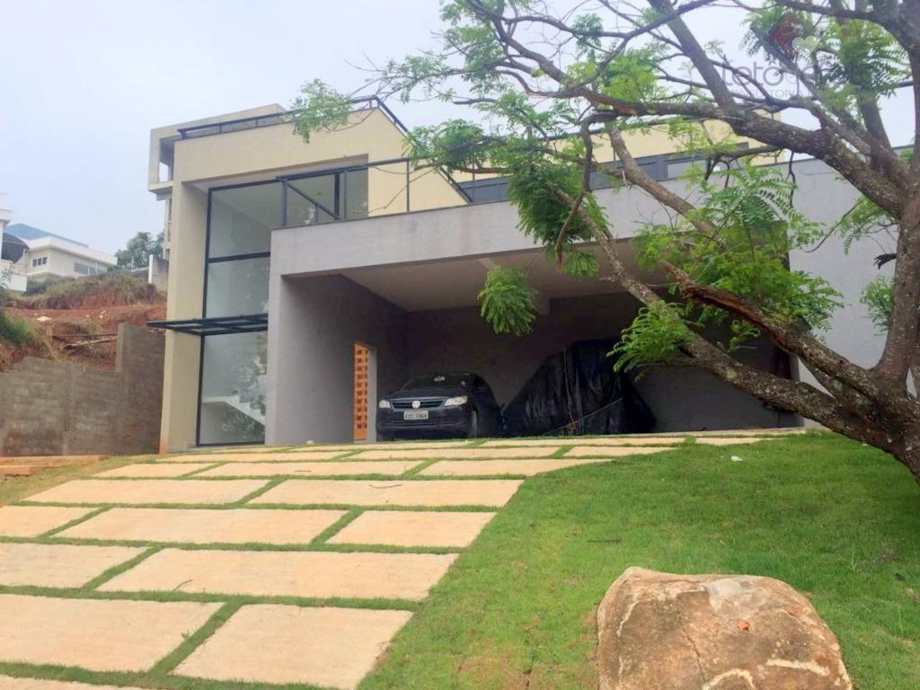 Sobrado residencial à venda, Condomínio Fechado, Atibaia - SO0195.