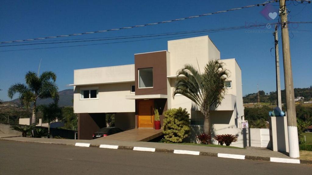 Sobrado residencial à venda, Condomínio Fechado, Atibaia.