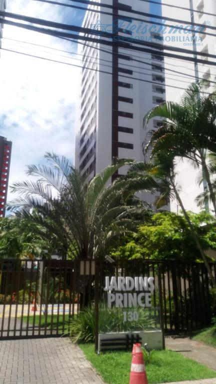 Apartamento com 3 dormitórios para alugar, 78 m² por R$ 600.000/mês - Tamarineira - Recife/PE