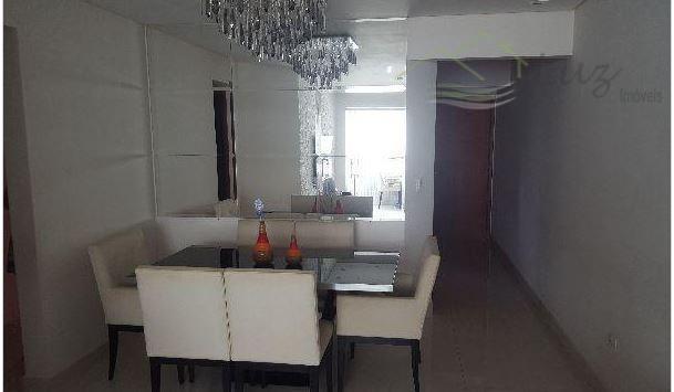 Aptº 90m² Centro SBC com 3 dorm/suíte 2 vagas Terraço Gourmet ESTUDA PERMUTA