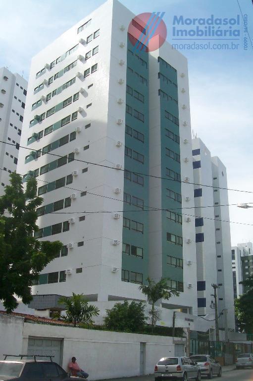 edf baia de mesquita residence - apartamento mobiliado e decorado no 5ºandar, sala com cozinha americana,...
