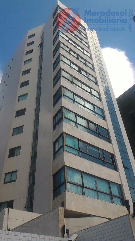 edf saint honoré - excelente apartamento no 3º andar com varanda c/vista p/mar, sala ampla para...
