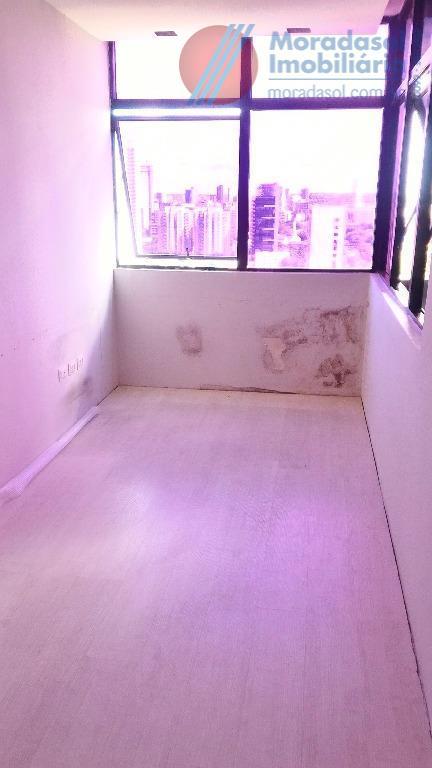 empresarial burle marx - excelente sala c/35m2 com 3 comodos, piso todo em porcelanato, wc social,...