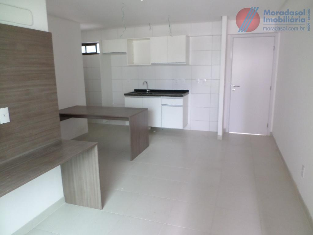 edf beach class santa maria - excelente apartamento, 1 locação, varanda, sala com cozinha americana com...
