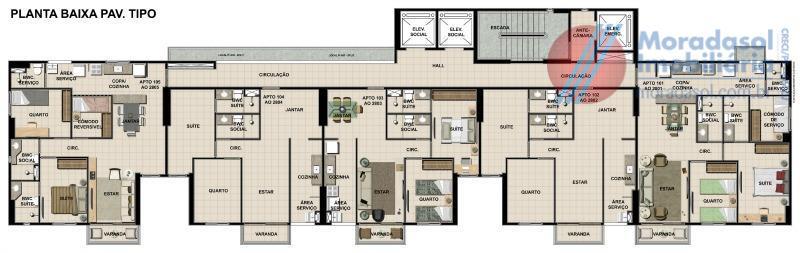 informar código vla138- ed. green life boa viagemunidades: 02 quartos (1 suíte), sala para 02 ambientes,...