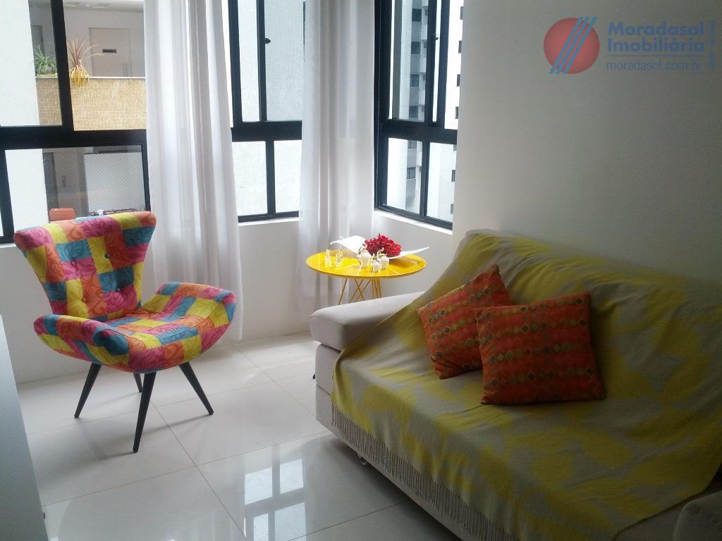 edf golden life home - excelente apartamento mobiliado no 4º andar, sala com cozinha americana, wc...