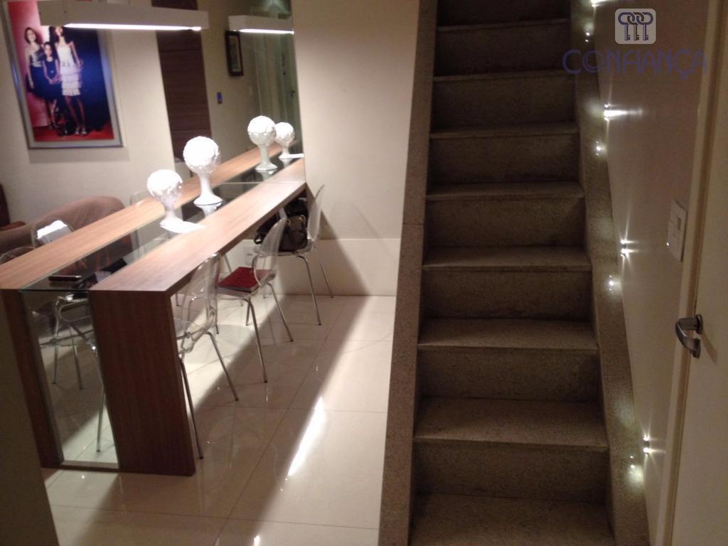 cobertura mobiliada, sistema de câmera, som ambiente, churrasqueira, ar condicionado, em todos os ambientes, 2 salas,...